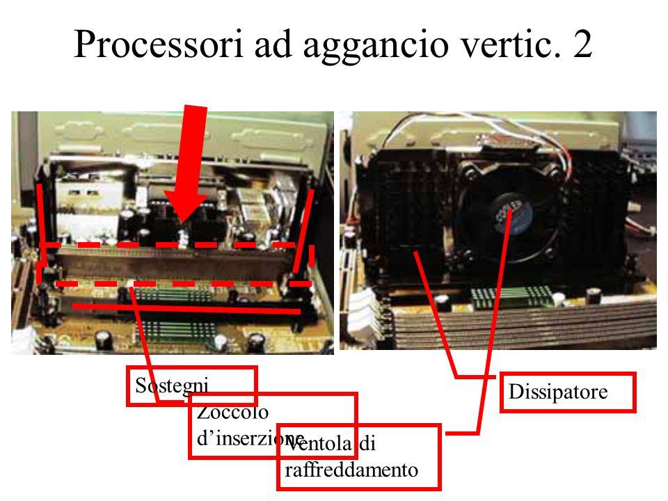 Processori ad aggancio vertic. 2 Zoccolo dinserzione Sostegni Dissipatore Ventola di raffreddamento