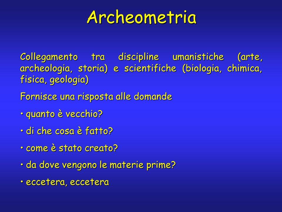 Archeometria quanto è vecchio?quanto è vecchio? di che cosa è fatto?di che cosa è fatto? come è stato creato?come è stato creato? da dove vengono le m