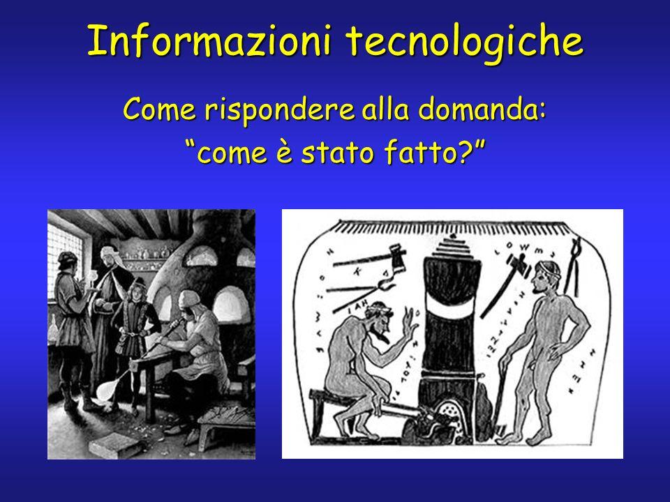 Informazioni tecnologiche Come rispondere alla domanda: come è stato fatto?