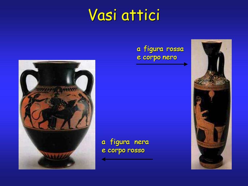 Vasi attici a figura rossa e corpo nero a figura nera e corpo rosso