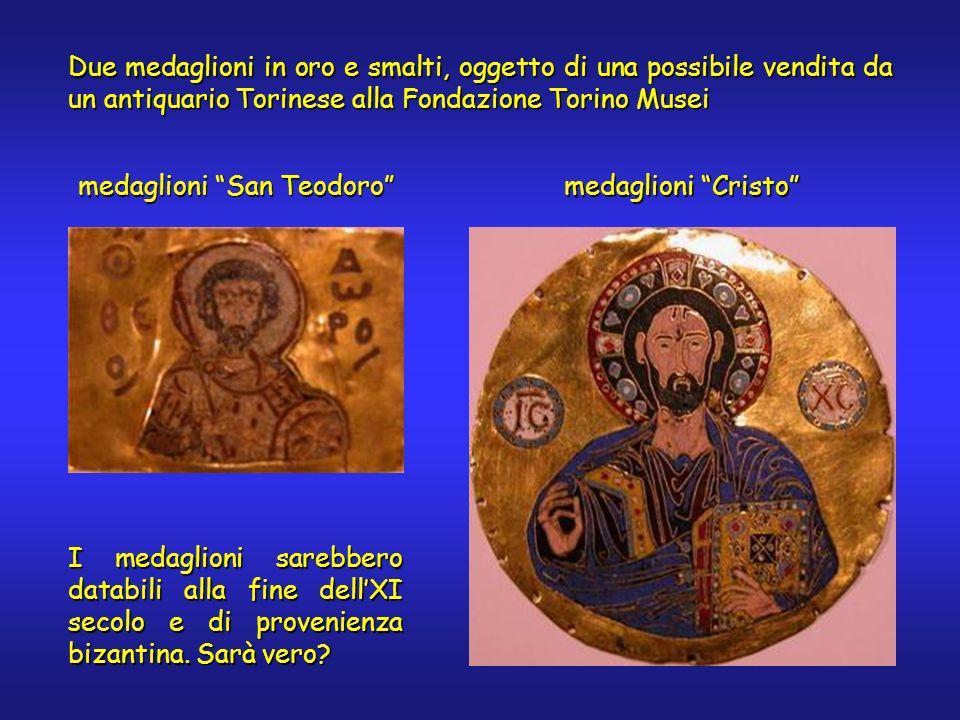 Due medaglioni in oro e smalti, oggetto di una possibile vendita da un antiquario Torinese alla Fondazione Torino Musei medaglioni San Teodoro I medag
