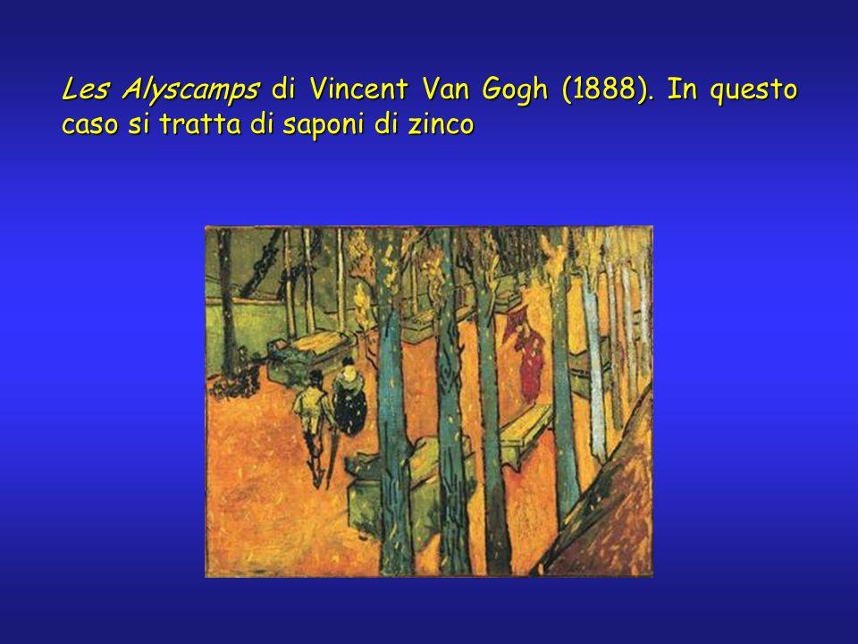 Les Alyscamps di Vincent Van Gogh (1888). In questo caso si tratta di saponi di zinco