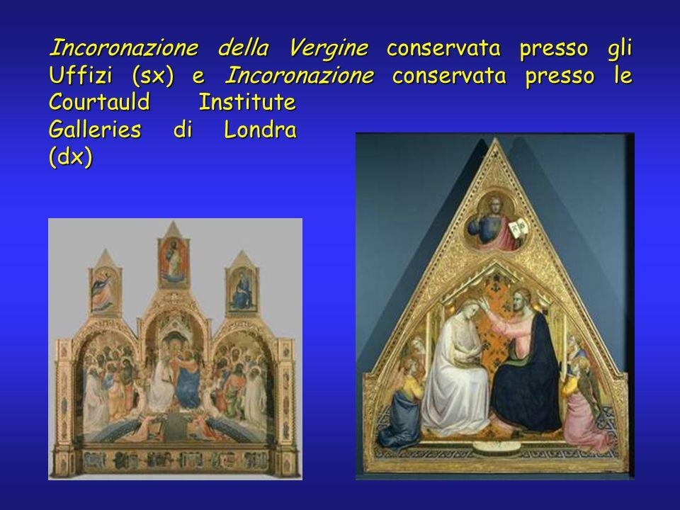 Incoronazione della Vergine conservata presso gli Uffizi (sx) e Incoronazione conservata presso le Courtauld Institute Galleries di Londra (dx)