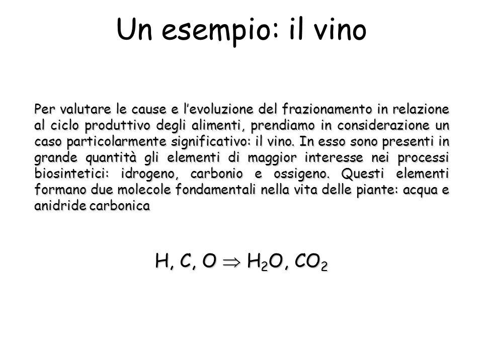 Un esempio: il vino Per valutare le cause e levoluzione del frazionamento in relazione al ciclo produttivo degli alimenti, prendiamo in considerazione un caso particolarmente significativo: il vino.