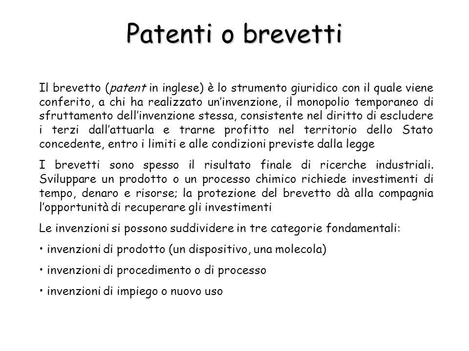 Esempio di brevetto 1.Numero del brevetto 2.Titolo 3.Inventore 4.Informazione sulla classificazione 5.Riferimenti citati 6.Abstract 7.Eventuali disegni Il brevetto è composto dalle seguenti parti: