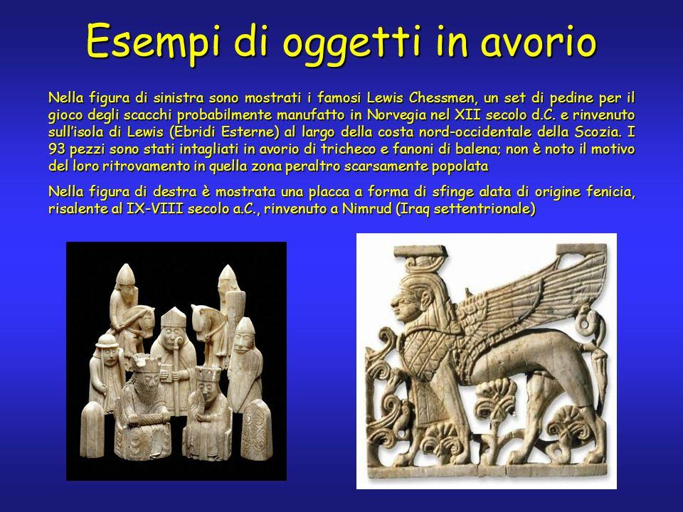 Nella figura di sinistra sono mostrati i famosi Lewis Chessmen, un set di pedine per il gioco degli scacchi probabilmente manufatto in Norvegia nel XII secolo d.C.