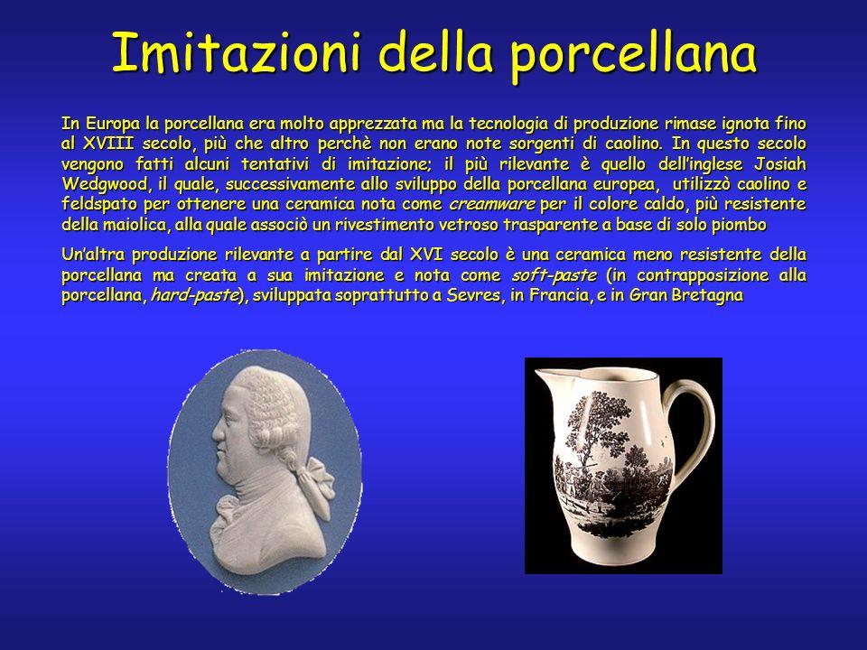 In Europa la porcellana era molto apprezzata ma la tecnologia di produzione rimase ignota fino al XVIII secolo, più che altro perchè non erano note sorgenti di caolino.