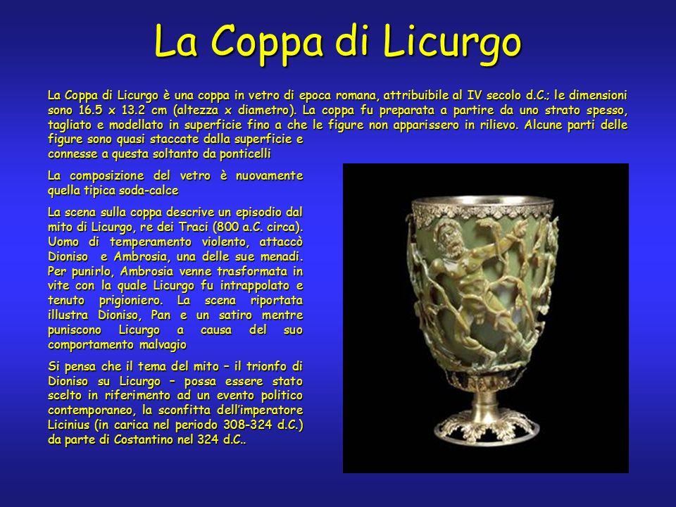 La Coppa di Licurgo è una coppa in vetro di epoca romana, attribuibile al IV secolo d.C.; le dimensioni sono 16.5 x 13.2 cm (altezza x diametro).