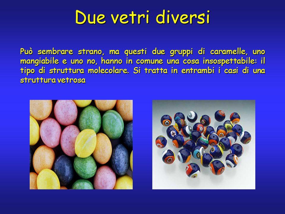 Può sembrare strano, ma questi due gruppi di caramelle, uno mangiabile e uno no, hanno in comune una cosa insospettabile: il tipo di struttura molecolare.