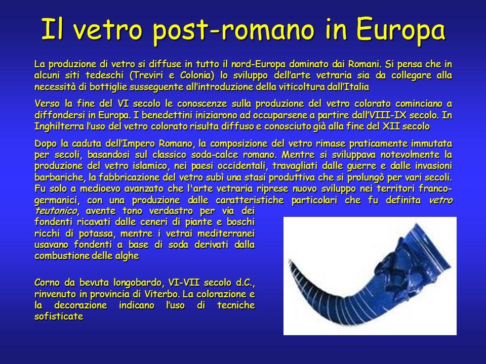 La produzione di vetro si diffuse in tutto il nord-Europa dominato dai Romani.