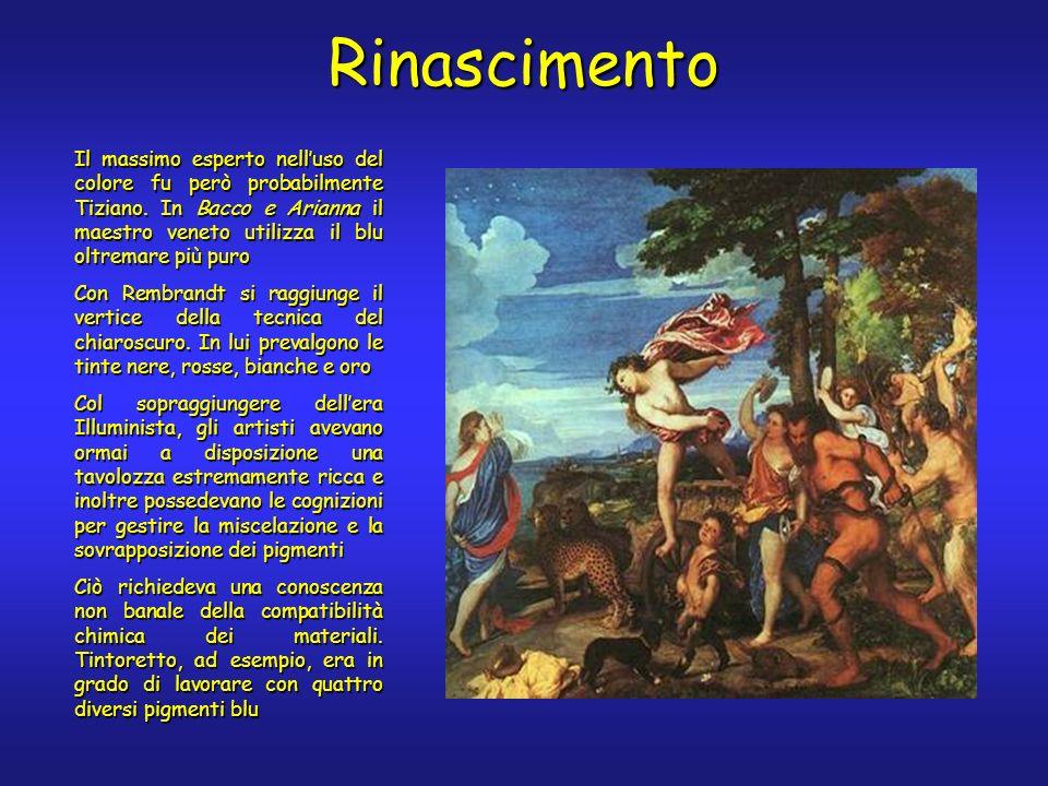 Rinascimento Il massimo esperto nelluso del colore fu però probabilmente Tiziano.