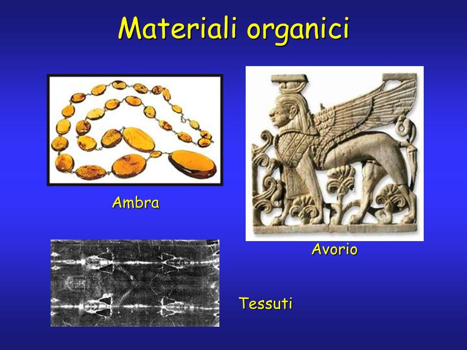 Materiali organici Ambra Tessuti Avorio