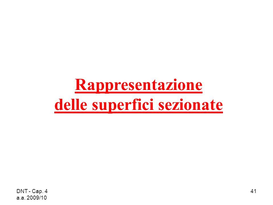 DNT - Cap. 4 a.a. 2009/10 41 Rappresentazione delle superfici sezionate