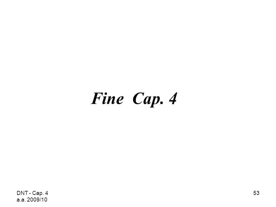 DNT - Cap. 4 a.a. 2009/10 53 Fine Cap. 4
