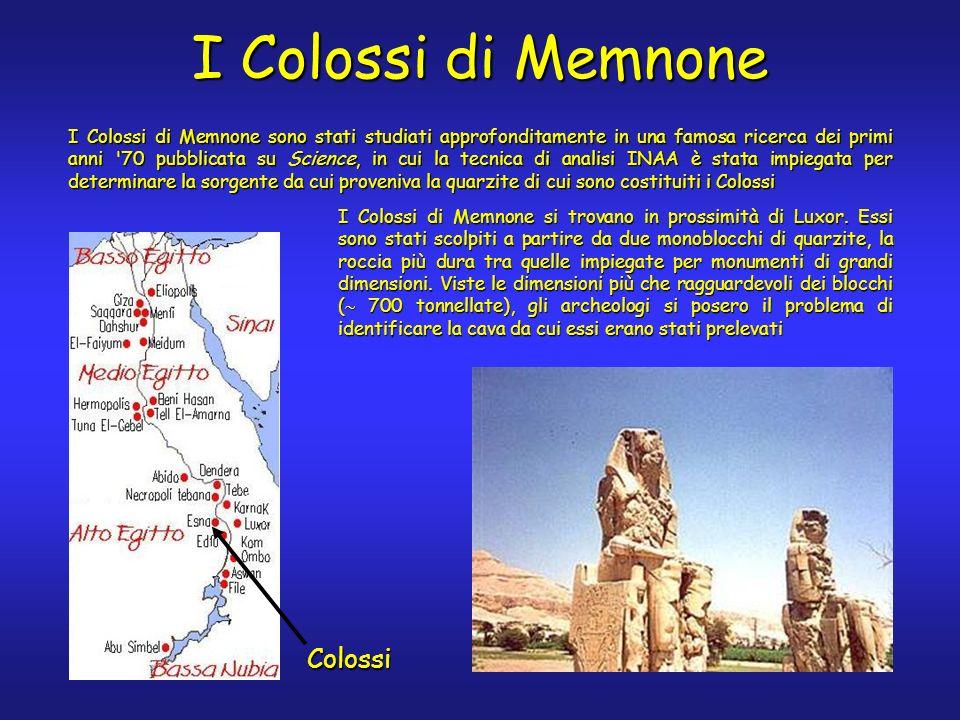 I Colossi di Memnone si trovano in prossimità di Luxor.