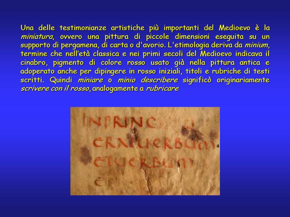 Un po di storia Come si è detto in precedenza, l arte dell illuminazione fiorì nei primi secoli dell Era Cristiana in concomitanza del passaggio dal rotolo al codice, per poi diventare una delle tecniche pittoriche più importanti.