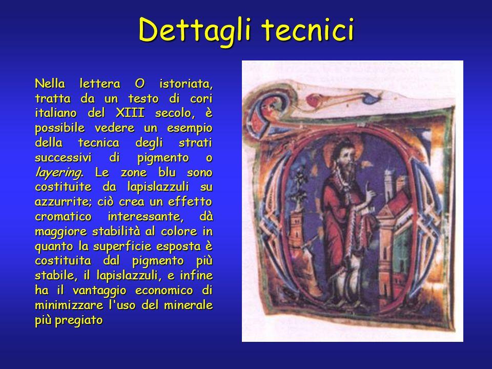 Dettagli tecnici Nella lettera O istoriata, tratta da un testo di cori italiano del XIII secolo, è possibile vedere un esempio della tecnica degli str