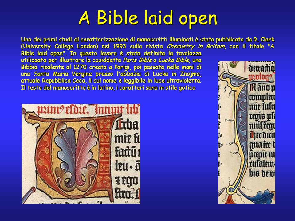 Bible laid open .