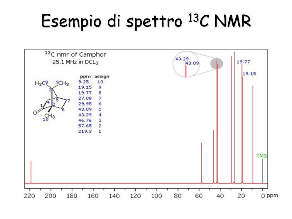 Esempio di spettro 13 C NMR