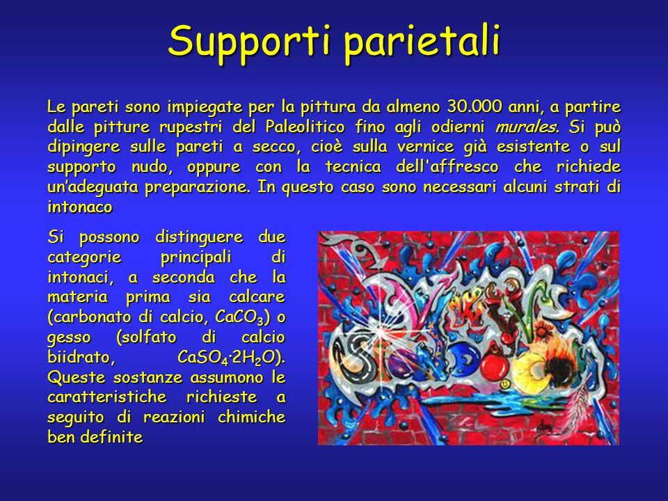 Supporti parietali Le pareti sono impiegate per la pittura da almeno 30.000 anni, a partire dalle pitture rupestri del Paleolitico fino agli odierni murales.