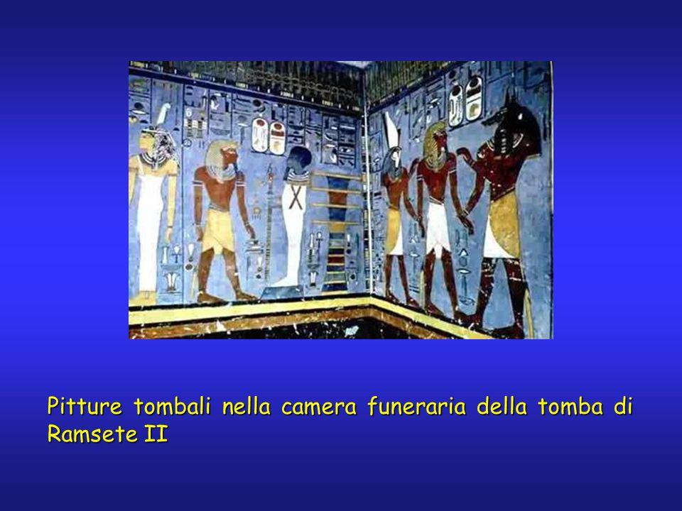 Pitture tombali nella camera funeraria della tomba di Ramsete II