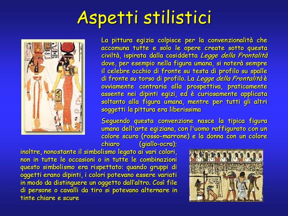 Il lino di Gebelein Unaltra opera pittorica di grande interesse è il cosiddetto Lino di Gebelein, risalente al 3.600 a.C.