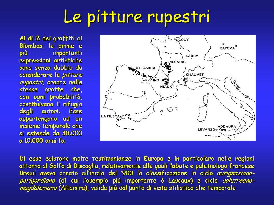 Le pitture rupestri Di esse esistono molte testimonianze in Europa e in particolare nelle regioni attorno al Golfo di Biscaglia, relativamente alle qu