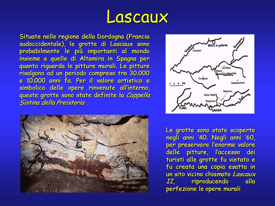 Lascaux Le grotte sono state scoperte negli anni 40. Negli anni 60, per preservare lenorme valore delle pitture, laccesso dei turisti alle grotte fu v