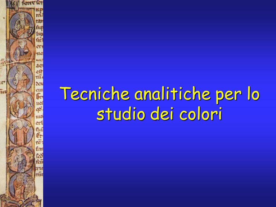 Tecniche analitiche per lo studio dei colori