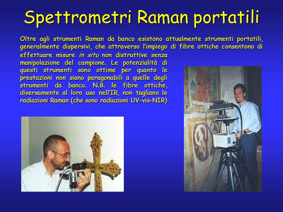 Spettrometri Raman portatili effettuare misure in situ non distruttive senza manipolazione del campione.