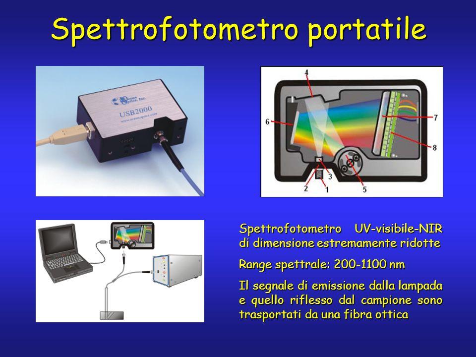 Spettrofotometro UV-visibile-NIR di dimensione estremamente ridotte Range spettrale: 200-1100 nm Il segnale di emissione dalla lampada e quello rifles