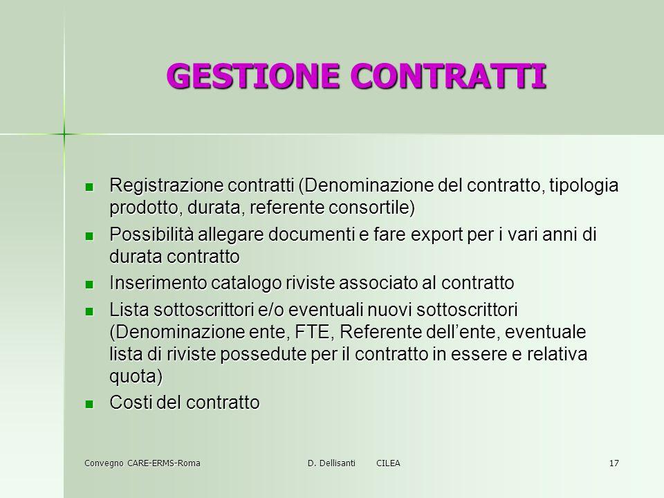Convegno CARE-ERMS-Roma D.
