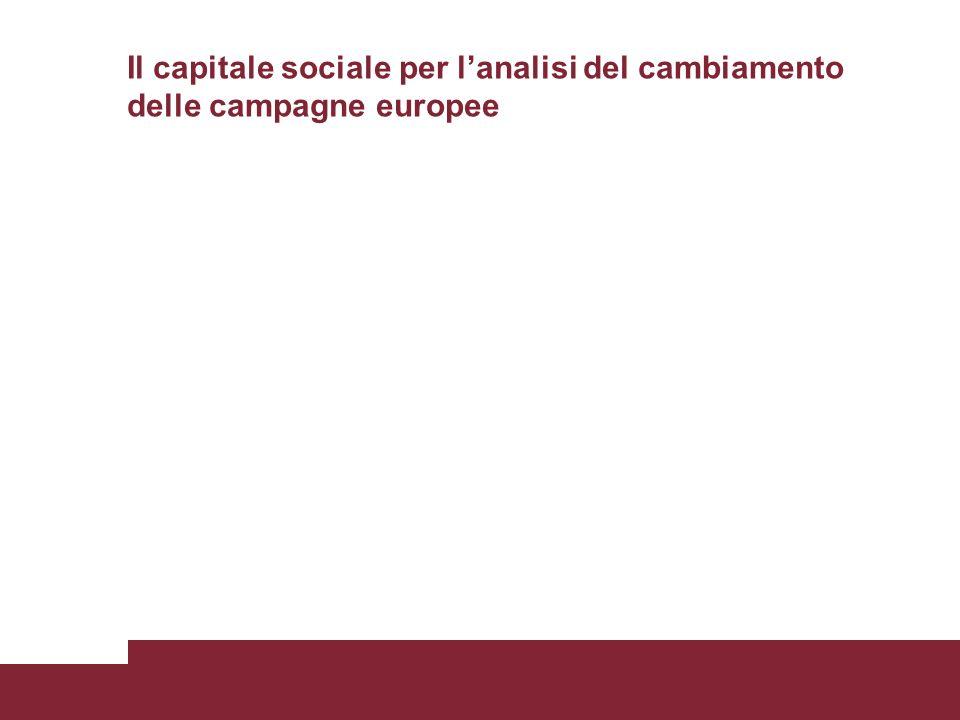 Il capitale sociale per lanalisi del cambiamento delle campagne europee