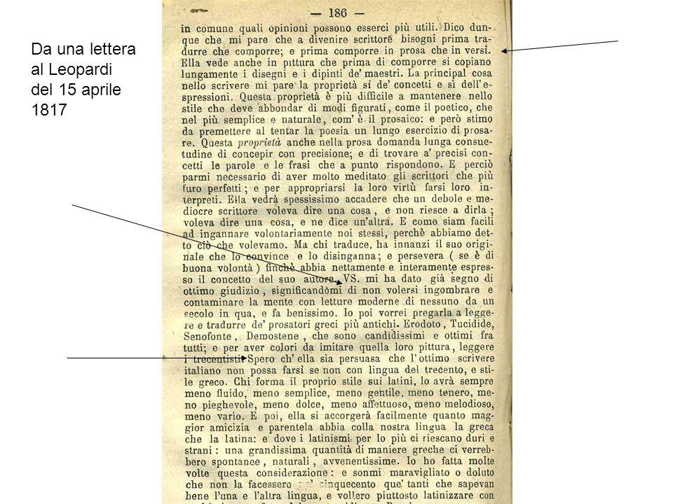Giordani sui Promessi Sposi (da una lettera a Francesco Testa, Natale 1827)