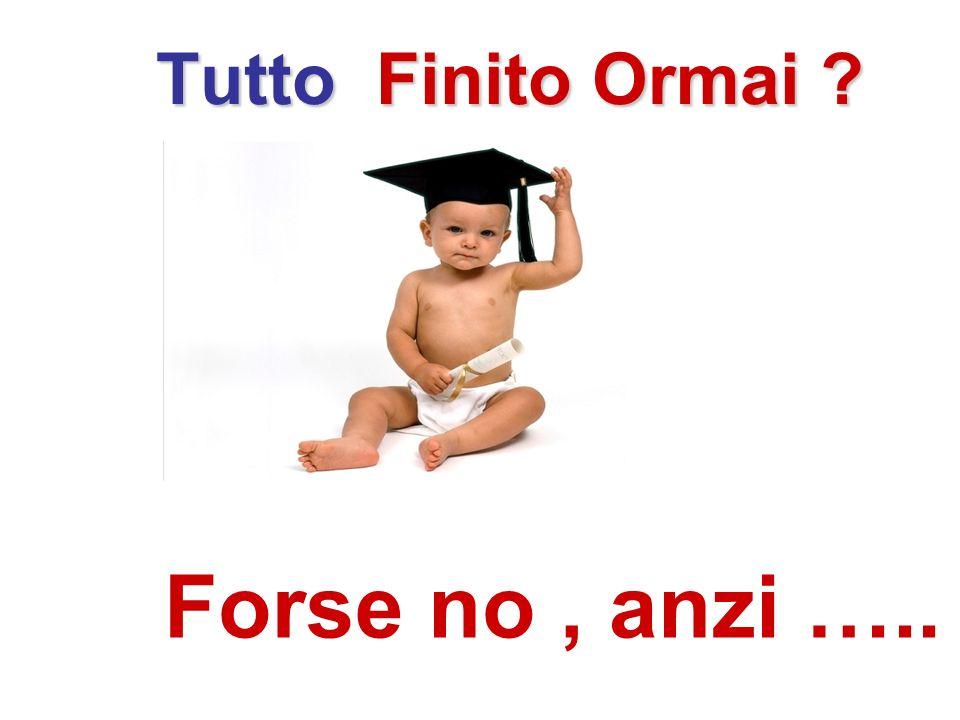 Tutto Finito Ormai ? Forse no, anzi …..