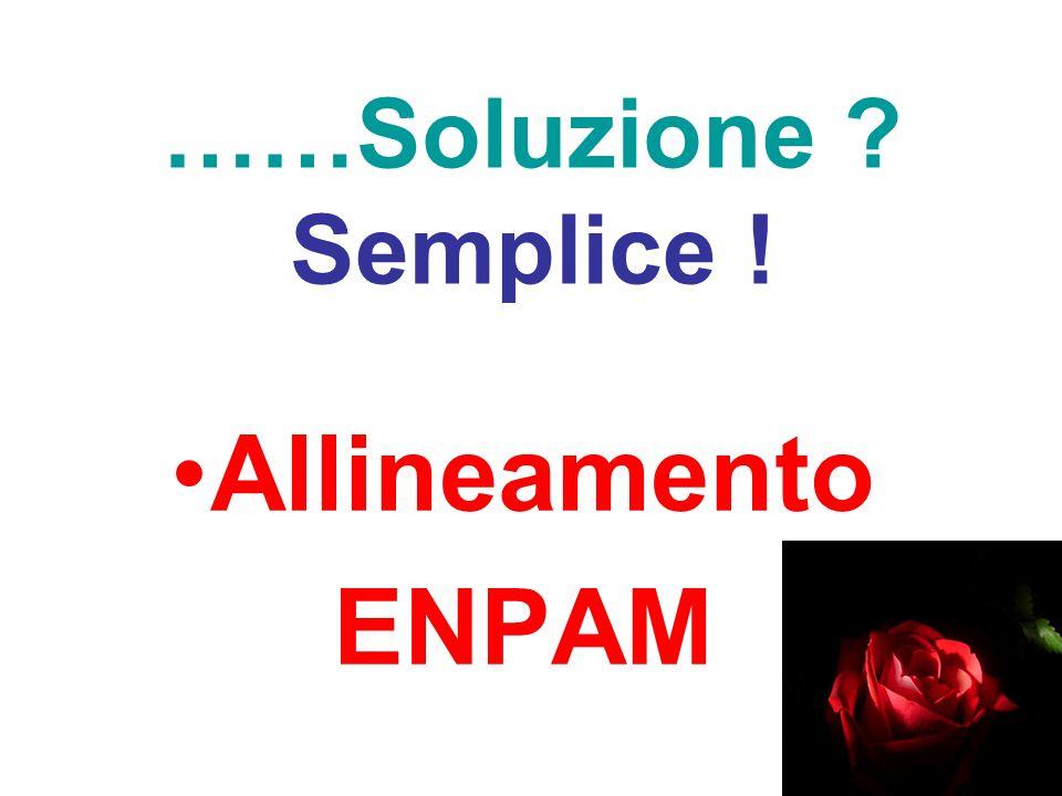 ……Soluzione ? Semplice ! Allineamento ENPAM