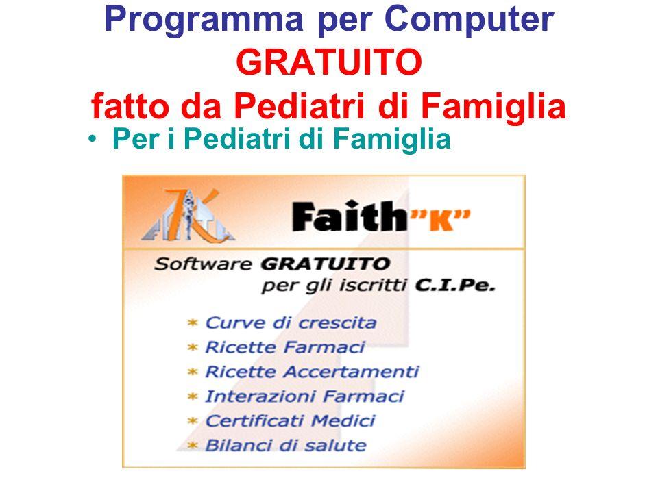 Programma per Computer GRATUITO fatto da Pediatri di Famiglia Per i Pediatri di Famiglia