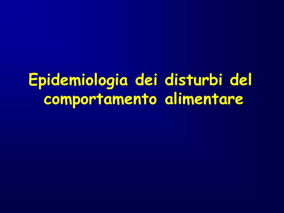 Prevalenza di Anoressia, Bulimia e Depressione nella popolazione Italiana.