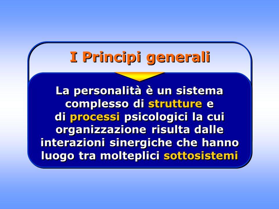 I Principi generali La personalità è un sistema complesso di strutture e di processi psicologici la cui organizzazione risulta dalle interazioni siner
