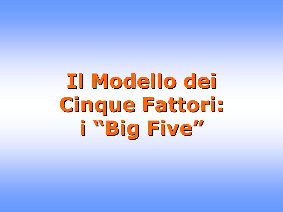 Il Modello dei Cinque Fattori: i Big Five