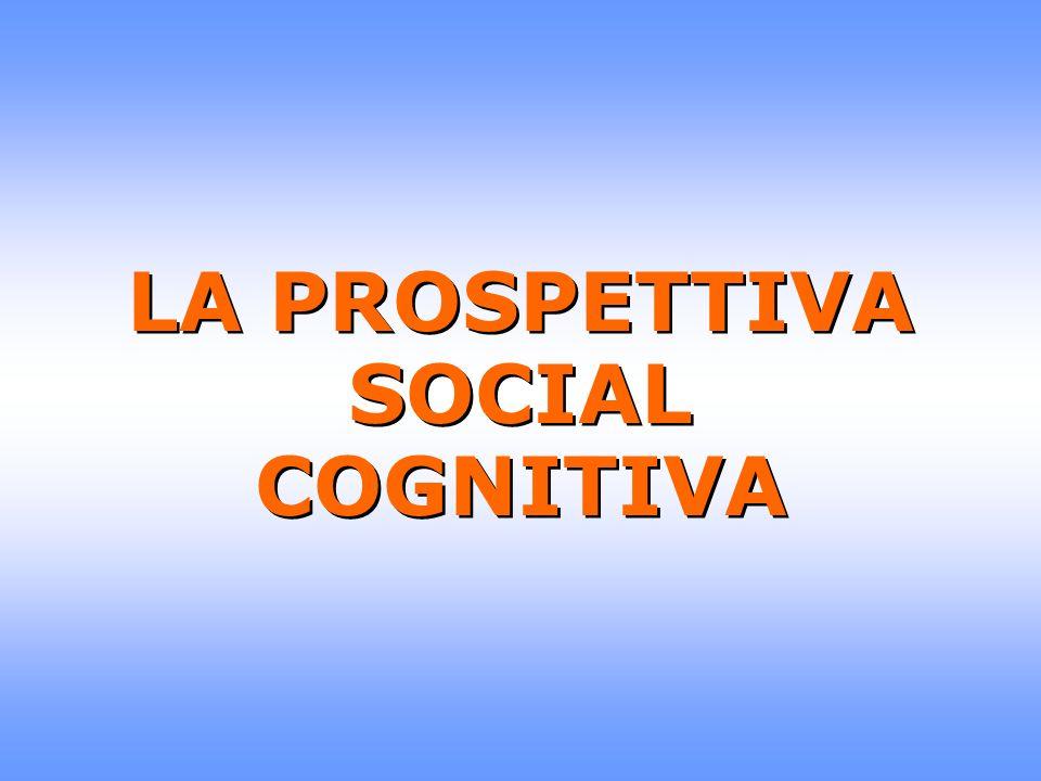 LA PROSPETTIVA SOCIAL COGNITIVA