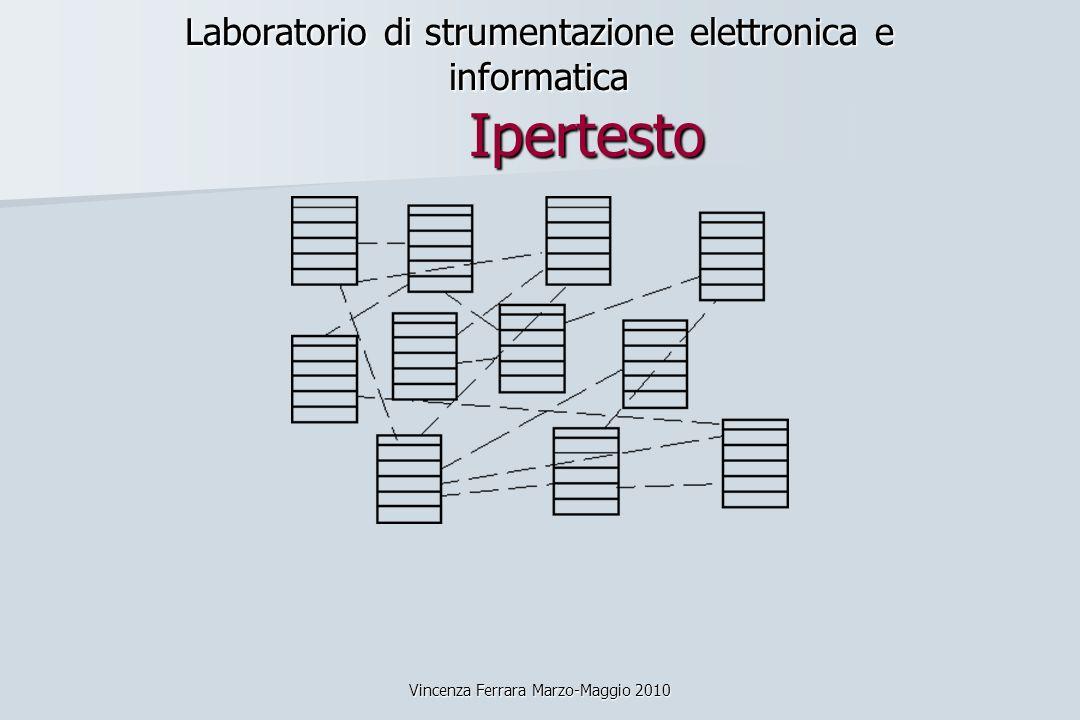 Vincenza Ferrara Marzo-Maggio 2010 Laboratorio di strumentazione elettronica e informatica Ipertesto