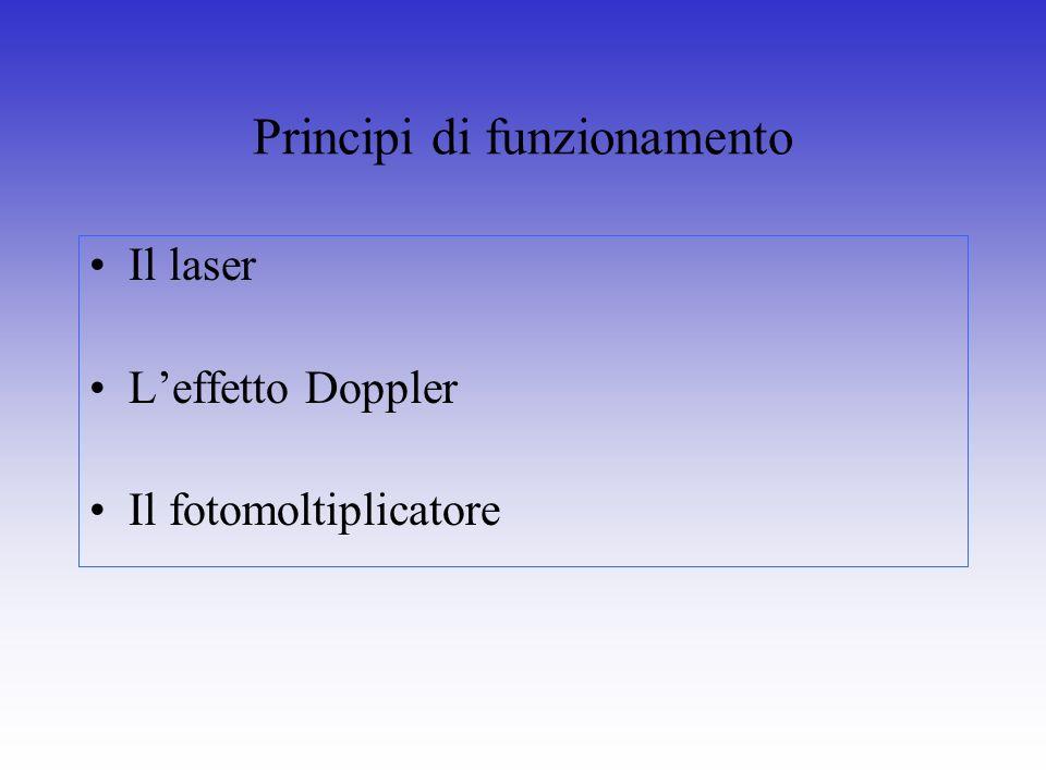 Principi di funzionamento Il laser Leffetto Doppler Il fotomoltiplicatore