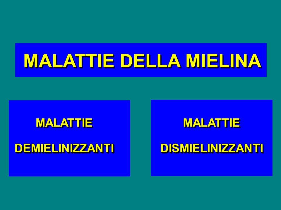 MALATTIEMALATTIE DEMIELINIZZANTIDEMIELINIZZANTI MALATTIEMALATTIE DISMIELINIZZANTIDISMIELINIZZANTI MALATTIE DELLA MIELINA