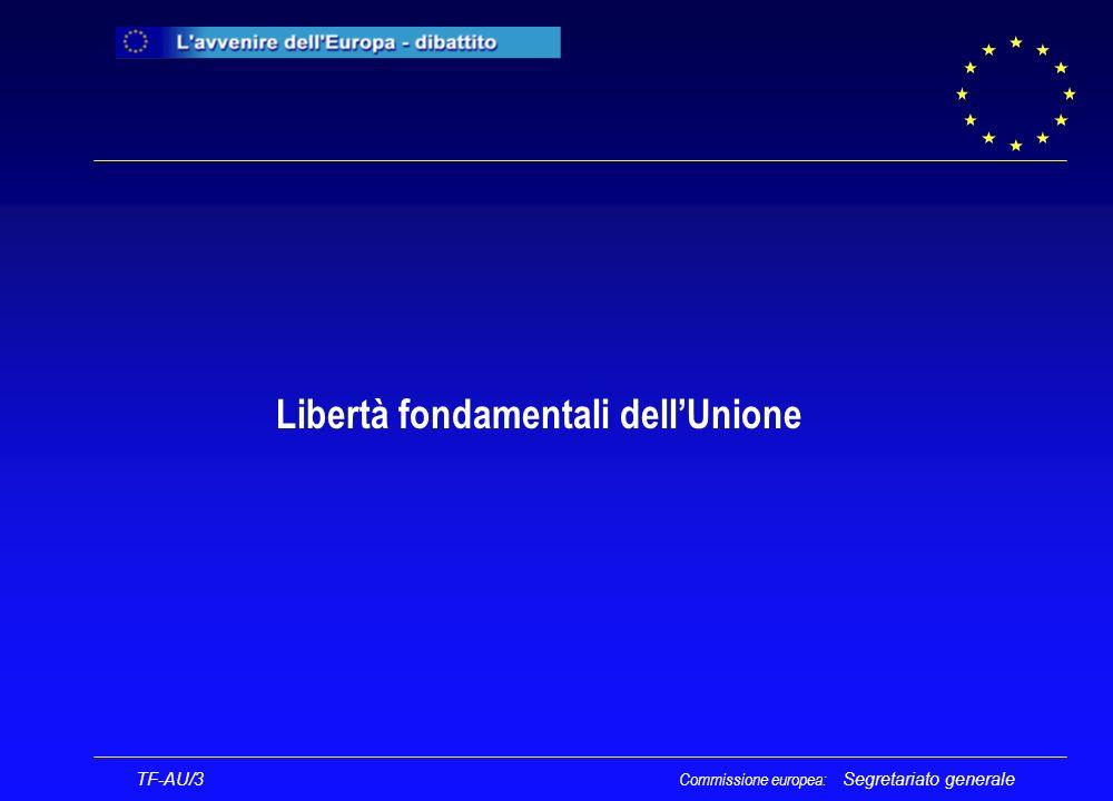 Segretariato generale TF-AU/3 Commissione europea: Libertà fondamentali dellUnione