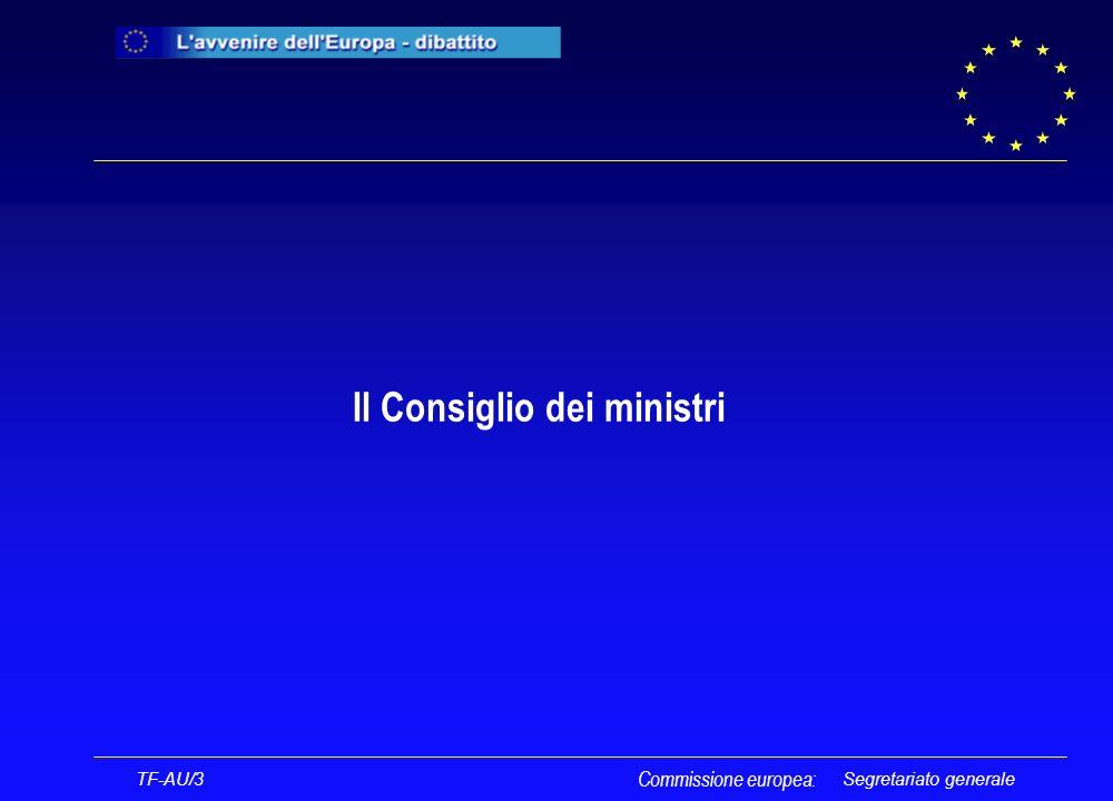 Segretariato generale Il Consiglio dei ministri TF-AU/3 Commissione europea: