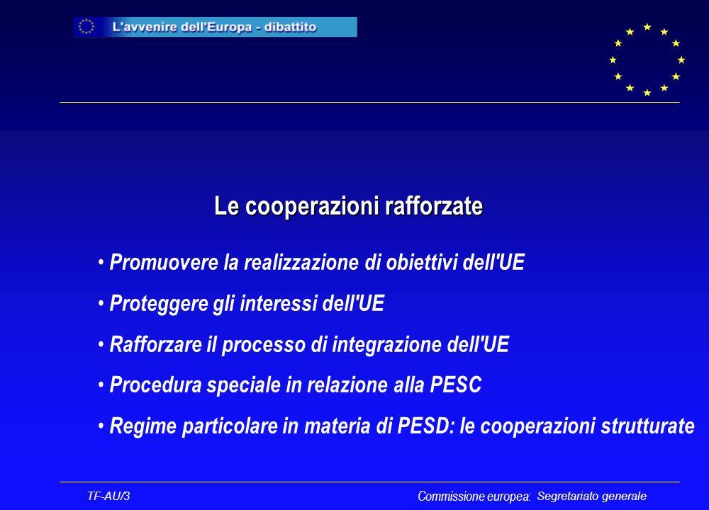 Segretariato generale Procedura di cooperazione rafforzata Commissione europea: TF-AU/3