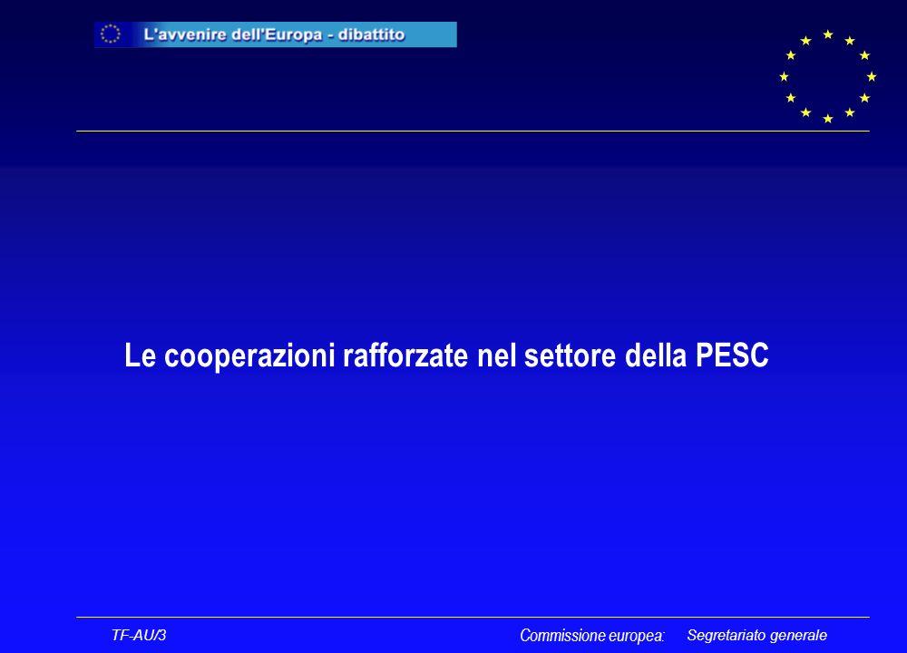Segretariato generale Le cooperazioni rafforzate nel settore della PESC Commissione europea: TF-AU/3