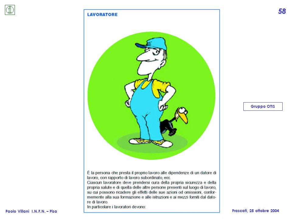 Paolo Villani © I.N.F.N. – Pisa Paolo Villani I.N.F.N. – Pisa Frascati, 25 ottobre 2004 Gruppo OTIS 58
