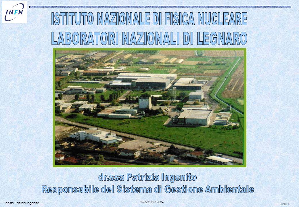 Slide 1 dr.ssa Patrizia Ingenito 26 ottobre 2004